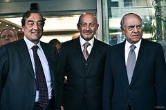 2.Juan Rossell, Presidente de la CEOE, Ferit Sahenk, Presidente de Doğuş Holding y Francisco Gonzalez, Presidente de BBVA