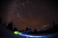 Geminid Meteor shower near Aspen Colorado (tmo-photo) Tags: camping winter snow mountains cold stars shower fav20 fav30 meteor 2012 milkyway geminid fav10 fav40