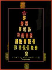 I wish ...........     merry Christmas (scorpion (13)) Tags: christmas color tree fun bears scanned photoart gummy