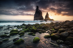 four elements (Dennis_F) Tags: madeira sunrise cloud sky rock rocks wave sea atlantic ocean light island sun