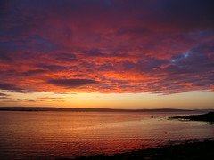 Kirkwall bay sunset (stuartcroy) Tags: orkney island scotland scenery sky sea still sony sunset sunlight colour clouds reflection ripples red