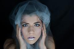 Silence, please. (Chiara Mangiaracina) Tags: girl portrait portraiture makeup eyes beauty beautiful blueyes wedding nikon fashion glam glamour ritratto lips colors moda model modella hair primopiano bestportraitsaoi