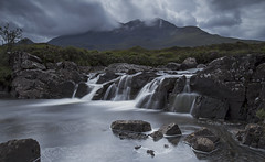 Black Cullins Looming (Turnpops) Tags: skye isleofskye sligachan riversligachan cullins blackcullinmountains mountain mountains landscape river water waterfall weather stormy longexposure le leebigstopper canon6d canon1635mm scotland