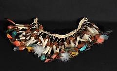 Ecuador Amazonian Necklace (Teyacapan) Tags: amazonian oriente waorani ecuador feather bones jewelry necklace tropical jungle southamerican