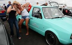 Di & Kate_8179 (Fast an' Bulbous) Tags: girl girls woman women blonde hot sexy vw volkswagen bugjam showshine show santa pod nikon d7100 gimp people outdoor