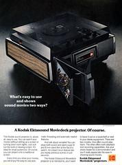 1977 Kodak Ektasound Moviedeck projector (Tom Simpson) Tags: 1977 kodakektasoundmoviedeck projector 1970s kodak vintage ad ads advertising advertisement vintagead vintageads electronics
