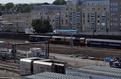 73966 and 66719 METRO-LAND (robert55012) Tags: scotland aberdeen clayhills class73 class66 73966 66719 metroland caledonian sleeper