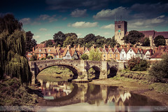 Light and Shadows on the River Medway (Nathan Dodsworth Photography) Tags: rivermedway kent aylesfordvillage light reflections shadows bridge historical church clocktower water clouds sky landscape outdoors mood trees tranquility serene calming