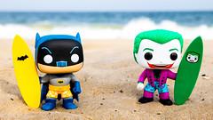 Batman vs Joker (Surfing) (The Flying Inn) Tags: 1966 adamwest atlantic batman beach capehenlopen cesarromaro dolls funko joker ocean pop vinyl camp campy delaware plastic show sixties surfing toys tv