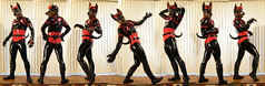 LeoStrip (Kory / Leo Nardo) Tags: pup pupplay pupleo kory rubberdawg zentai lycra spandex fullbody suit custom collar dog doberman dobi tail woof dawg rubber 2016 indoor latex look corset red