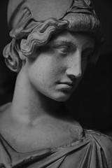 Classics 2/3 (Athena) (Sir Cam) Tags: cambridge cambridgeuniversity museumofclassicalarchaeology museum classics archaeology blackandwhite athena portrait roman myron camdiary sircam