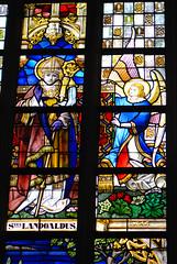 St. Landoaldus (quinet) Tags: 2014 belgium ghent glasmalerei landoaldus stainedglass vitrail antwerp flanders