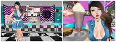 Order Up! (orchid.bolissima) Tags: diner waitress freckles prtty katat0nik {song} vco belleza violent seduction burger shake peggy sues 50s