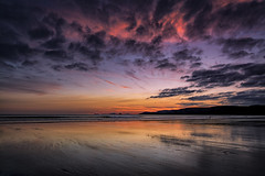 A Welsh sunset (Explored 18/09/16) (Andy2305) Tags: sunset newgale pembrokeshire wales coast beach sky clouds reflections explored