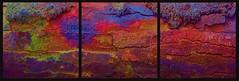 20160816 WoutvanMullem Drieluik Hout Etalage 1-2 (Wout van Mullem) Tags: kunst de etalage zuidhorn wout van mullem kleurrijk boomschors roest rust drieluik tryptich triptiek