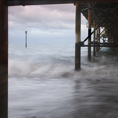 Awkward Angles (susanibrown) Tags: teignmouth devon fineartphoto piers outdoor water ocean