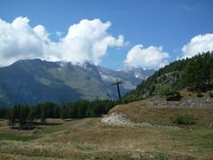 Panorama from Chamois (SoniaM (Italian teacher)) Tags: italia italy valledaosta valdaosta chamois montagna montagne mountain mountains natura nature landscape panorama view alpi alps