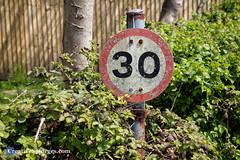 30 (Cousin Dirk) Tags: keyhavenmarshes keyhaven newforest coast speedlimit sign signs numbers 30 weathered rust rusty