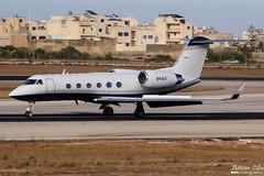 Private --- Gulfstream Aerospace Gulfstream G-IV --- N44GV (Drinu C) Tags: adrianciliaphotography sony dsc hx100v mla lmml plane aircraft aviation private gulfstreamaerospace gulfstream giv n44gv bizjet privatejet