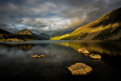 Wast water (movinonagroove) Tags: wastwater sunset sunrays sunlight sun water clouds rocks hills mountains lakedistrict uk lakes lake leefilter nikond810 nikon nikonafsnikkor1835mmf3545ged landscape outdoors