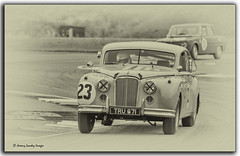 Jaguar Mark 7 (jdl1963) Tags: historic racing thruxton motorsport motor blackandwhite bw black white monochrome jaguar mark 7 sepia