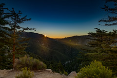 The New Day (Travelatorr) Tags: landscape pine amazing bigbear losangeles hills morning blue beautiful california forest sunlight mountains trees green summer sun sunrise lake big bear