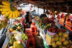 Floating Green Grocers (From Elsewhere) Tags: travel vietnam mekong river boats riverlife culture village villagelife markets food
