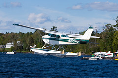 Private Cessna 172D N168MS (jbp274) Tags: 52b greenville greenvilleseaplaneflyin airplanes seaplane flyin mooseheadlake lake water cessna c172 skyhawk