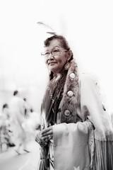 portrait of a woman at a Pow Wow event (gks18) Tags: woman portrait canon niksoftware powwow dancer aboriginal blackandwhite sepia