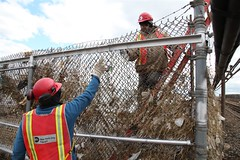 17. Structure Team repairing Downed Fence in Rockaways (MTAPhotos) Tags: subway sandy queens a hurricanesandy postsandy