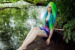 galaxy mermaid (Ailera Stone) Tags: blue lake black green london stone tattoo river hair stars milk clothing colorful pastel piercing fairy galaxy heath doughty mermaid hampstead tasha alternative aiste ailera tiriute