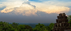Clouds of Cambodia (davidkoiter) Tags: sky panorama cloud david forest canon eos ancient ruins cambodia khmer ominous stupa pano kingdom jungle 7d april l series canopy angkor taprohm 70200 f4 2012 f4l koiter davidkoiter
