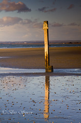 The marker post (Through Bri`s Lens) Tags: england sussex lowtide nationaltrust westwittering easthead canon7d chichesterchichesterharbour