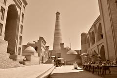 Khiva (www.rihlahviajes.com) Tags: sepia minaret mosque uzbekistan khiva