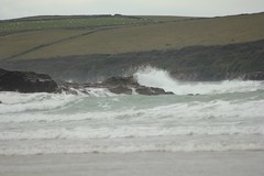 Polzeath (yve1964) Tags: sea water rocks cornwall surf waves surfing riding surfboard minerals surfers seashore wetsuit polzeath newquey