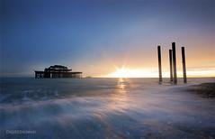 Brighton Sunset (Endre Herczeg) Tags: ocean longexposure sunset pier brighton 10mm d7000