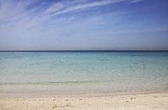 Jumera Beach (Johanne Margrethe) Tags: blue sea beach nature beautiful lines horizontal jumera