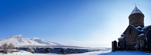 Panoramic view of Saghmosavank monastery
