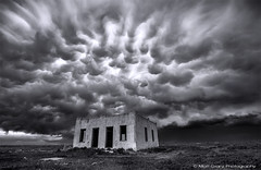 Mammatus Explosion (Matt Granz Photography) Tags: blackandwhite bw storm weather clouds colorado wind stormy adobe chase thunderstorm chasing chaser mammatus supercell