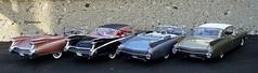 1959-1960 Cadillac Eldorado Biarritz Convertible & Eldorado Seville Hardtops (JCarnutz) Tags: convertible seville cadillac eldorado biarritz 1959 1960 diecast 124scale danburymint