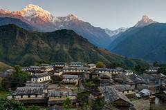 Ghandruk, a beautiful Gurung village in the foothill of Annapurna (torchmeister) Tags: nepal mountains trek ngc abc himalaya pokhara annapurna annapurnabasecamp