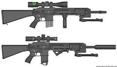 HK 416 SMRs (Brony-Drifter) Tags: hk gun rifle squad pimp smr dmr pmg 416 marksman my
