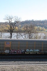 Amen ~ Sofa (Skyline Crony) Tags: bench graffiti paint streak fat tag caps sofa thin piece burner bomb amen freight krylon rusto ironlak