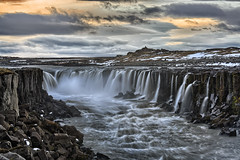 The End of The World - Selfoss, Iceland (Oilfighter) Tags: longexposure sunset canon waterfall iceland dettifoss horseshoefalls 70200mm selfoss 5dmarkiii singhraylbpolarizer f4leegraduatedndfilter