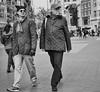 (Damien Sass) Tags: city two people blackandwhite newyork men walk olympus unionsquare stroll omd em5