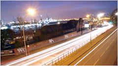 Hamburg at night (FOXTROT|ROMEO) Tags: longexposure cars water night deutschland lights wasser ship nacht sony hamburg lightning alter schiff elbe lichter nachts nex langebelichtung knigderlwen elbphilharmonie nex5