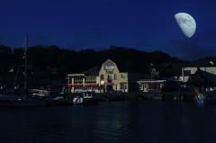 Padstow By Moonlight (JPD Wildlife Photography) Tags: sea moon nikon cornwall harbour moonlight padstow d7000