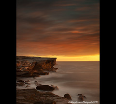 Lightup (AnthonyGinmanPhotography) Tags: longexposure water clouds sunrise cliffs kurnell botanybaynationalpark nd110 potterpoint