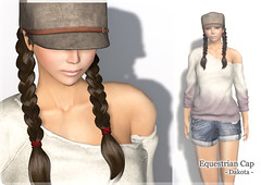 [New Arrival] Equestrian Cap - Dakota - (ARGRACE) Tags: fashion hair sl secondlife braid argrace equestrianhat equestriancap