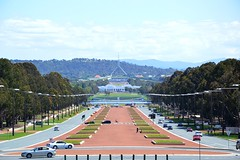 Old and New Parliament Houses (Simon_sees) Tags: city travel vacation holiday architecture power capital sightseeing perspective australia parliament government canberra sights seatofpower